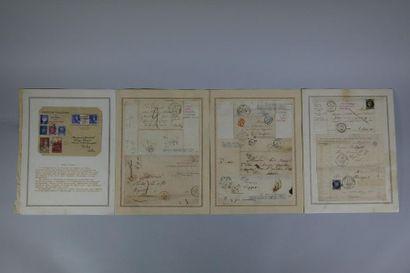 Lot de documents avec enveloppes cachet unique...