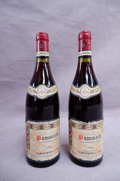 Pommard Clavelier et fils 1991 2 bouteil...