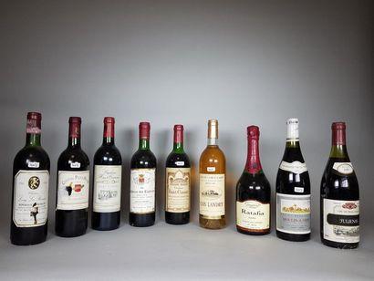 9 bouteilles de vins divers.