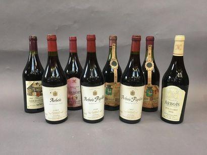 8 bouteilles de vin d'Arbois
