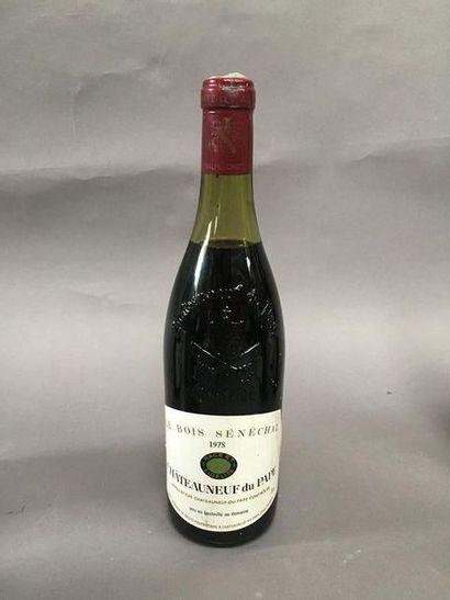 1 bouteilles Châteauneuf du pape 1978