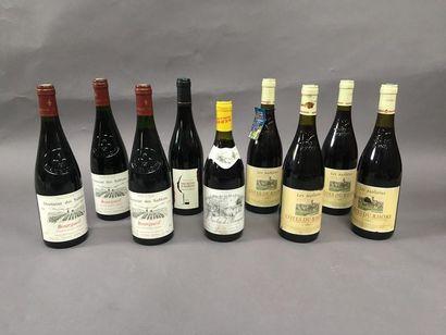5 bouteilles Bourgueil, 4 bouteilles cotes...