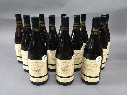 12 bouteilles de Beaujolais domaine des crêtes...