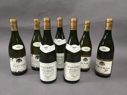 3 bouteilles de Vouvray 1997, 2 bouteilles...