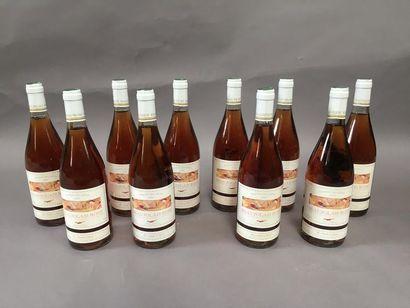 10 bouteilles Beaujolais rosé domaine de...