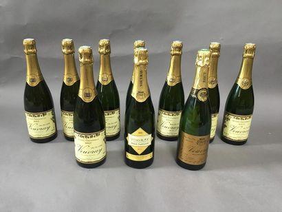 10 bouteilles de Vouvray