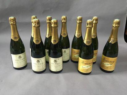6 bouteilles de Vouvray brut Domaine Vigneau-Chevreau...