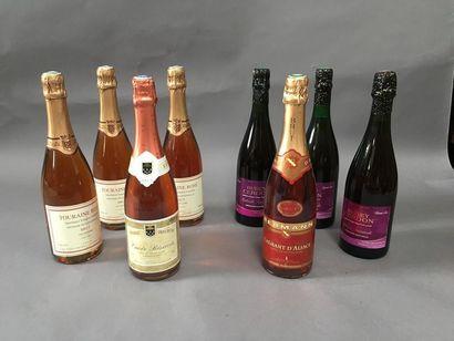 8 bouteilles de mousseux et crémant rosé