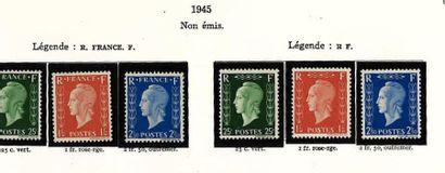 4 classeur + 1 Pochette: France Classique, SM et Moderne dont Bf n°2**, sourire...