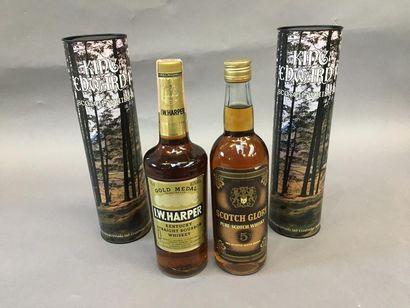 2 bouteilles de Whisky King Edward 1, 1 bouteille...