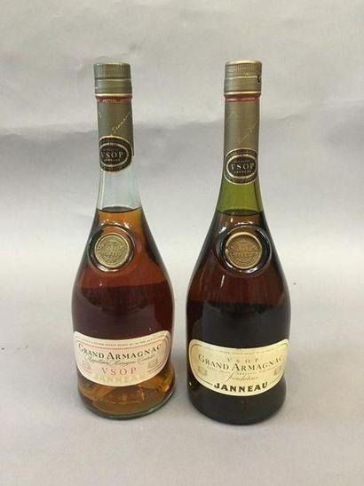 2 bouteilles de Grand Armagnac CSOP tonn...