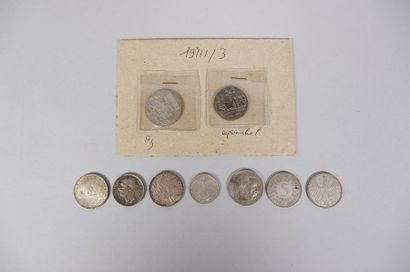 Lot de pièces en argent