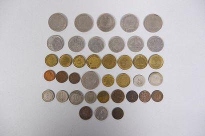 Lot de pièces (Allemagne, Italie, Grand...