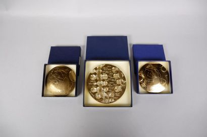 Trois médailles de DEMARCHI et TREMOIS ...