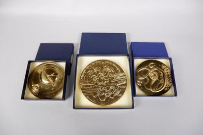 Trois médailles de DEMARCHI et TREMOIS :