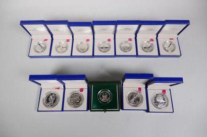 - 7 pièces argent 900°/°° 2001 - 1 pièce...