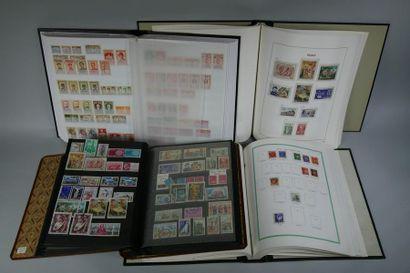25 classeurs de timbres : France Faciale. Important lot Monaco, Europe, 1er Jour,...
