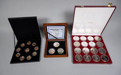 Vatican ; coffret Jean Paul II : 3 médailles;...