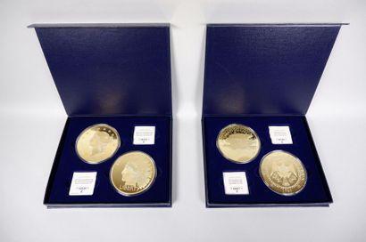 Deux coffrets de 2 importantes médailles...