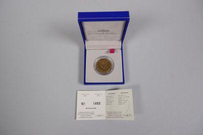 Monnaie de Paris. 1 pièce de 1F or 750°/°°...