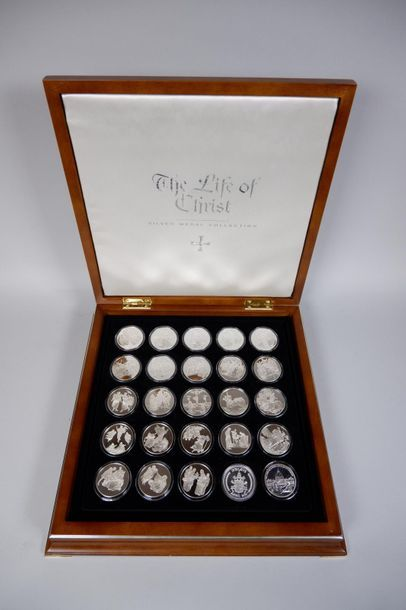 The life of Christ, silver medal collection....