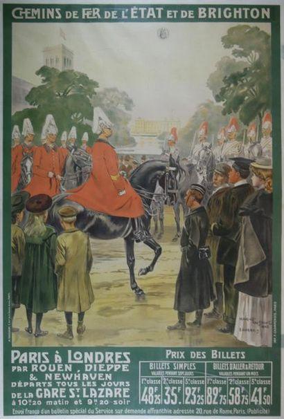 Maurice TOUSSAINT (1882-1974) Chemin de fer...