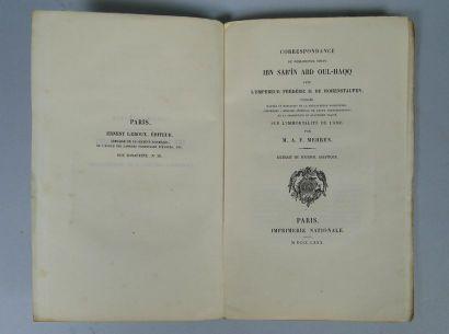 Correspondance du philosophe soufi Ibn Sab'În...