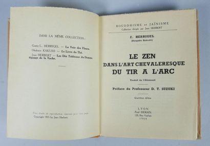 E. HERRIGEL, Le zen dans l'art chevaleresque...