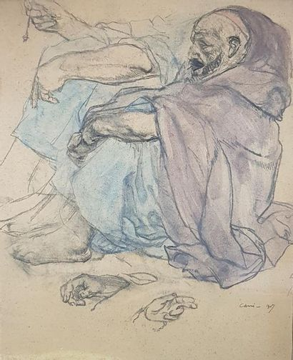 Léon CARRÉ (1878-1942) Marocains assis, 1907....