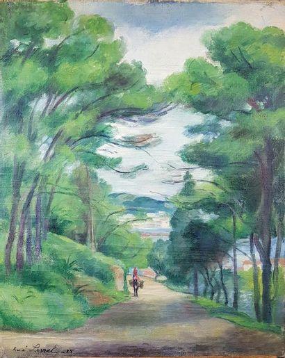 René LEVREL (1900-1981) Ane devant la baie...