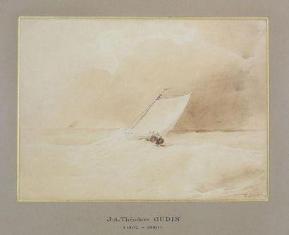 J-A. Théodore GUDIN (1802-1880) La vague....