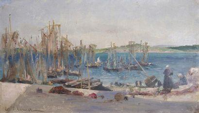 Gabriel Edouard THURNER (1846-1907) Les pêcheurs....