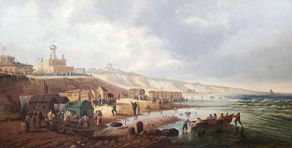 THOMSEN (XIXe siècle) Marine. Huile sur toile...