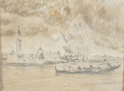Amédée ROSIER (1831-1898) Le grand canal...