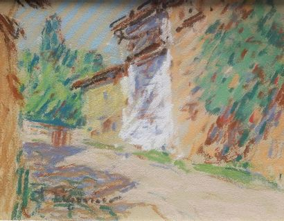 Auguste PEGURIER (1856-1936) Vue de Villanova...