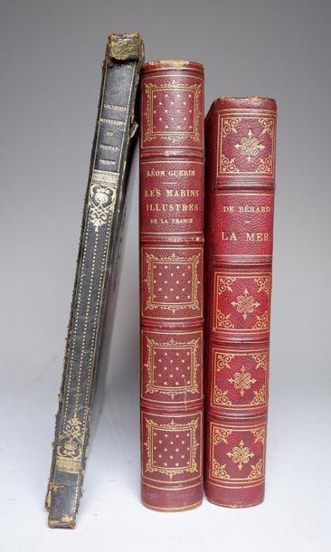 Ensemble de deux livres : - F. BIARD. Deux années au Brésil. Paris, HACHETTE, 1802...