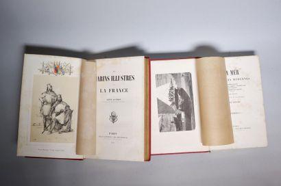 Ensemble de trois livres : - Léon GUERIN. Les marins illustres de la France. Paris,...
