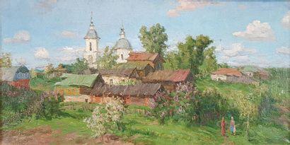 Vladimir A. FEDULOV (1948) Les clochers,...