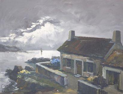 Lucien POTRONAT (1889-1974) La Bretagne....