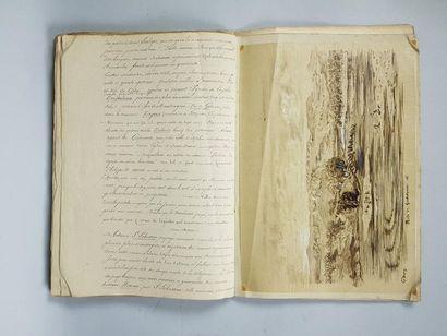 Baron Ch. DAVILLIER. L'Espagne. Manuscrit illustré de dessins d'après Gustave Doré....