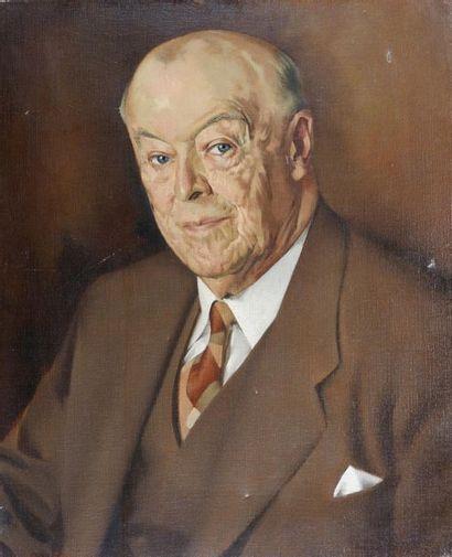 GRAYSTON (XXe siècle) Portrait d'un homme...