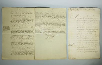 Quatre documents manuscrits du XVIIIe siècle...