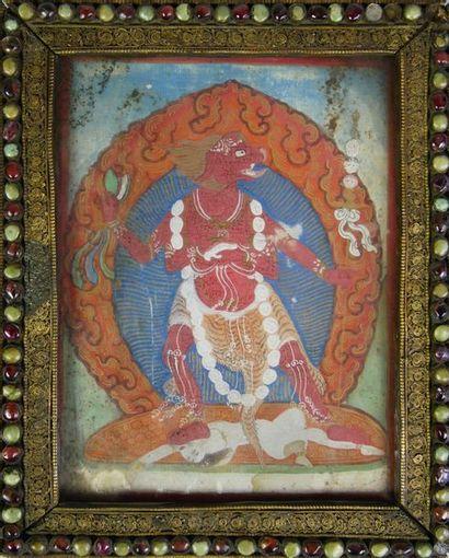 Ecole indienne du XIXe siècle Divinité Indoue...