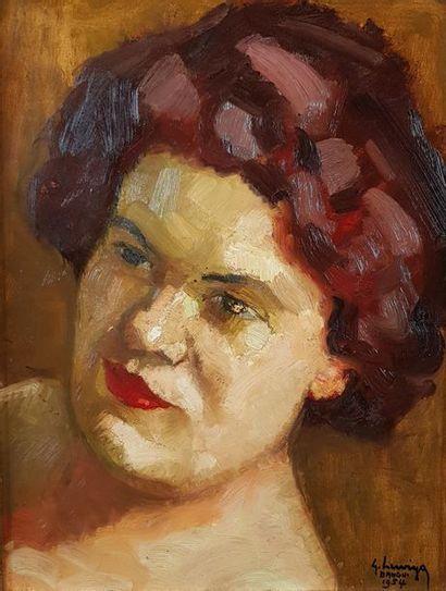 Gustave HERVIGO (1896-1993) Portrait de femme,...