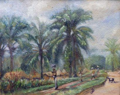 Jef DE PAUW (1888-1930) Allée africaine sous...