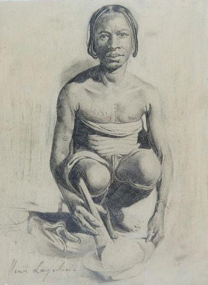 Henri LOGELAIN (1889-1968) Femme du Congo...