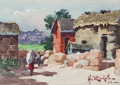 Ambroise RAKOTO (XXe siècle) Vues de Madagascar,...