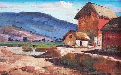 M. RUBARIPAORRA (XXe siècle) Village dans...