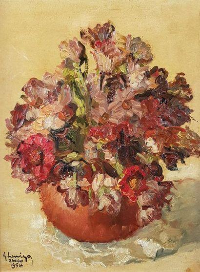 Gustave HERVIGO (1896-1993) Bouquet, 1954....