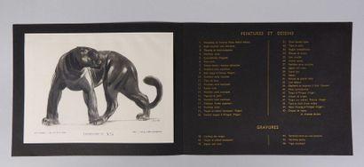 Paul JOUVE (1878-1973) Panthère noire. Lithographie...